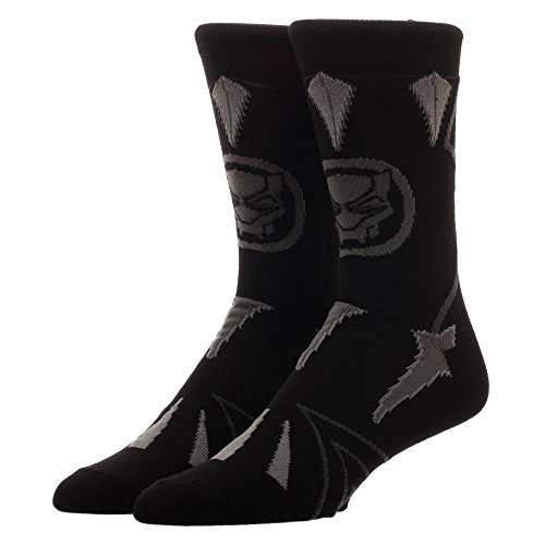 Black Panther Suit Up Crew Socks, One Size(10-13) from Bioworld