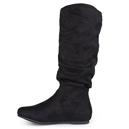 Journee Calf Suede Slouch Black Sized Wide Womens Calf Mid and Riding Boots Collection Regular wYzOrqxYZ