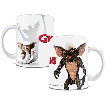 GREMLINS WERE HERE MUG CERAMIC CUP TEA COFFEE TV RETRO FILM GIFT BOXED STRIPE