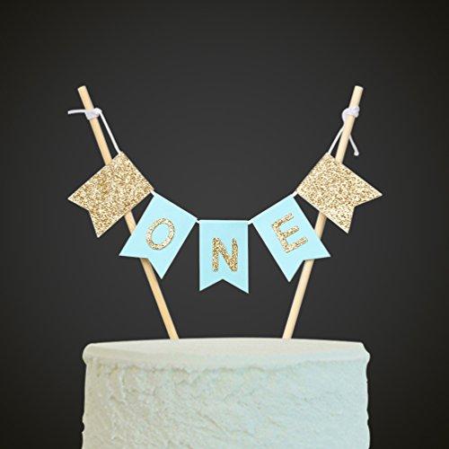 Handmade ONE Birthday Cake Topper