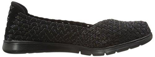 BOBS von Skechers Damen Pureflex Fashion Slip-On Flat Schwarzer Punkt