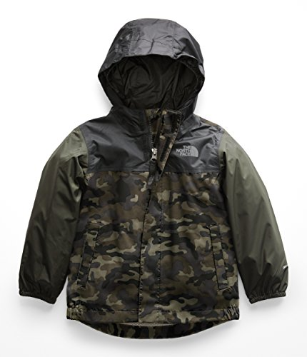 The North Face Todd Tailout Rain Jacket - New Taupe Green Camouflage Print - 3T (Camo Taupe New)