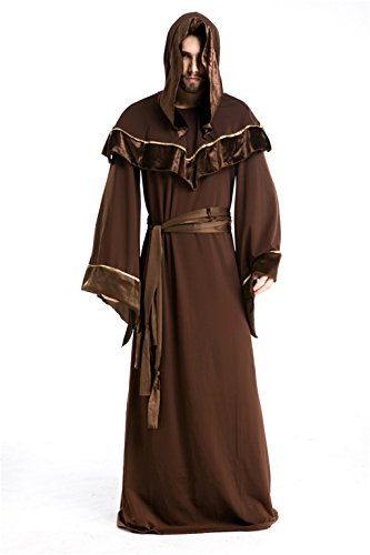 [Baju Cosplay Halloween Costume Sorcerer Suit Christian Missionaries The Devil Uniform] (Missionary Costumes)