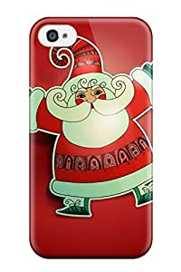 Christina Schulte's Shop 7977322K96585047 Fashion Tpu Case For Iphone 4/4s- Father Christmas Santa Claus Defender Case Cover