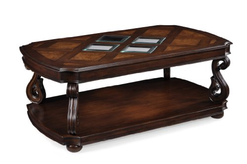 - Magnussen T1648-43 Harcourt Cherry Finish Wood Rectangular Cocktail Table