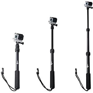 ActionSports Pole Aluminum Waterproof Telescoping Extension Monopod GoPro Pole for GoPro Hero 6 & 5 Black, 4, 3+, 3, 2, 1, Session and Fusion