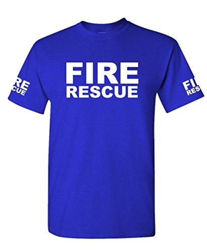 FIRE RESCUE - ems emt emergency service - Mens Cotton T-Shirt, XL, Royal