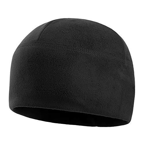 (M-Tac Winter Hat Windproof Fleece 295 Mens Military Watch Skull Cap Tactical Beanie (Medium, Black))