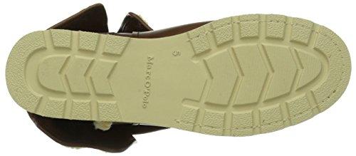 Marc O'Polo Flat Heel Bootie - Botas para mujer marrón - Braun (dark cognac 729)