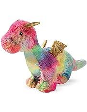 Fringe Studio Dog Toy, Rainbow Dragon-Plush Pet Toy (289365)