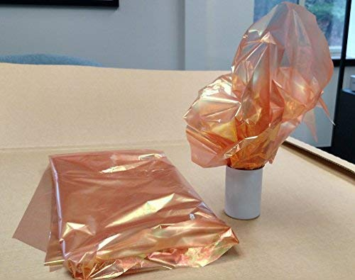 Colored Iridescent Wrap - Orange Cellophane Wrap - 50 sqft, 30inch Wide x 20ft Long - 1 Pack
