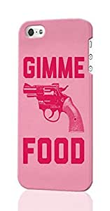 Gimme Food Pattern Image - Protective 3d Rough Case Cover - Hard Plastic 3D Case - For iPhone 4 4S
