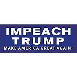 "Drumpf.WTF ""IMPEACH TRUMP Make America Great Again!"" Magnetic Anti-Trump Bumper Sticker"