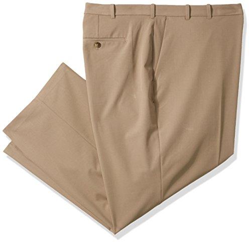 Van Heusen Men's Big and Tall Flex Straight Fit Pant, Khaki, 34W X (Big Tall Slacks)