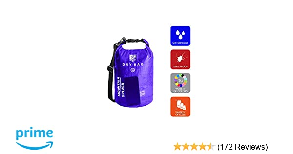 d422471920 Amazon.com  Waterproof Dry Bag 5L 10L 20L-Water Resistant Lightweight  Backpack with Handle-Floating Dry Storage Ocean Bag Keeps Gear Impervious  to ...