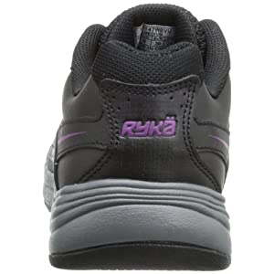 RYKA Women's Sport Walker 6 Walking Shoe,Black/Iron Grey/Spellbound Purple,7.5 M US