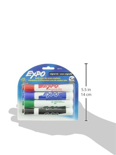 EXPO Low Odor Chisel Tip Dry Erase Markers, Chisel Tip, Assorted Colors, 4-Count by Expo (Image #6)