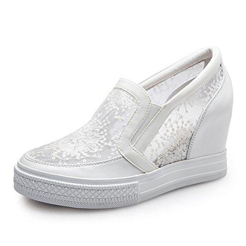 PUMPS Nude Schuhe,Breathable Pisten und Liebe Schuhe,Womens Schuhe in der Flachen Dermalen mull B