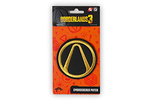 Borderlands Vault Symbol Embroidered Patch - 3-Inch Round Yellow & Black Fabric Video Game Patches - for Hat, Backpack, Jacket, Shirt, Collection Collectibles Merchandise by Just Funky