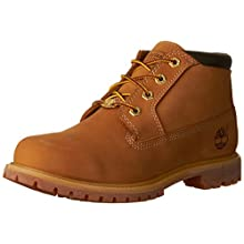 Timberland Women's Nellie Double WP Ankle Boot,Wheat Yellow,8 W US