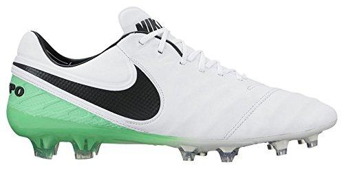 Nike Tiempo Legend VI (Fg), Scarpe da Calcio Uomo WHITE/BLACK-ELECTRO GREEN