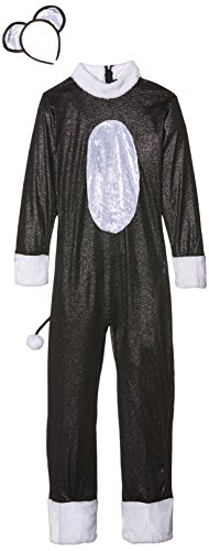 Tail Cat Uk Costume (Smiffy's Children's Cool Cat Girl Costume, Jumpsuit, Tail & Headpiece, Color: Black, Ages 10-12, Size: Large,)