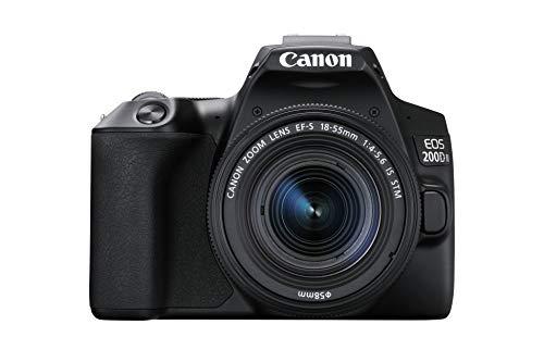 Canon EOS 200D II 24.1MP Digital SLR Camera + EF-S 18-55mm f4 is STM Lens (Black) + SanDisk Extreme 32GB SD Card 2