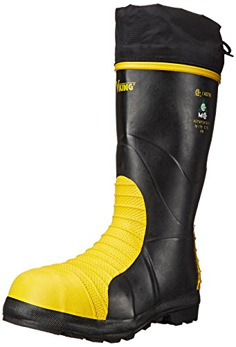 Boots Guard Metatarsal Safety (Viking Footwear MET Guard Waterproof Boot, Black/Yellow, 9 M US)