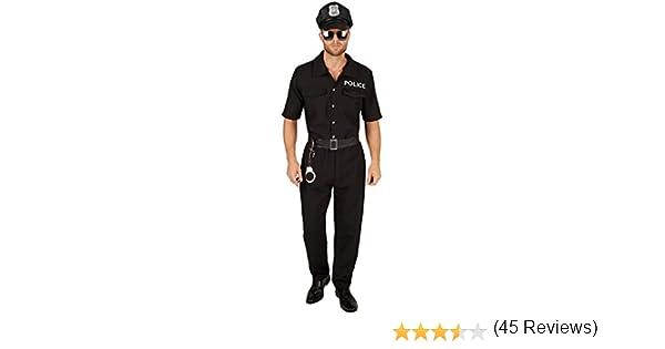 TecTake dressforfun Disfraz de policía para Hombre   Uniforme y Cinturón de Piel sintética (S   no. 301434): Amazon.es: Juguetes y juegos