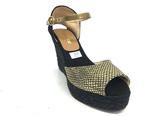 ORO femme KANNA NERO 37 EU Sandales pour 7ww8R