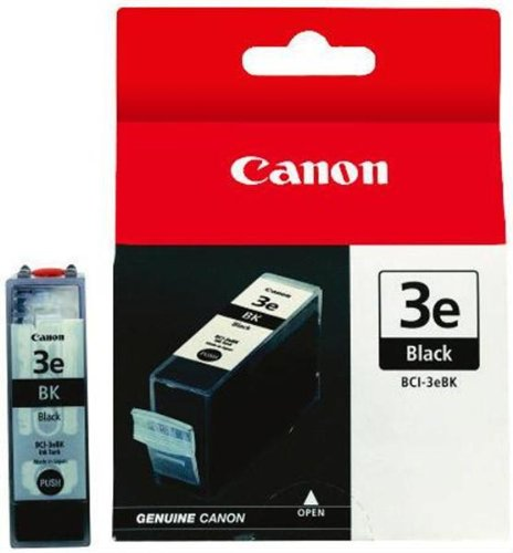Canon BCI-3e Black Ink Tank Compatible to iP5000, iP4000R, iP4000, iP3000, i860, MP780, MP760, MP750, i850, i560, i550, S750, S630, S600, S530D, S520, S500, S450, 400, BJC 6000, MP730, MP700, MPF80, MPF60, MPF50, MPF30, MPC755 (6000 Printer Black Bjc Cartridge)