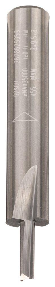 Bosch Professional 2608629354 Nutfrä ser aus Vollhartmetallfrä ser 8x4x50,7mm, D1 4 Lä nge 15,8 mm G 50.7 MM