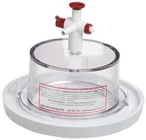 "Bel-Art Scienceware 410990000 Polycarbonate Top Polypropylene Bottom Mini Vacuum Desiccator, 6-3/4"" ID, 5"" Height"