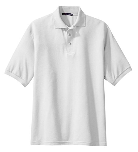 Port Authority K500 Silk Touch Polo - White - X-Large