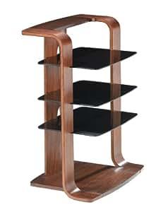 Jual Curve - Mueble para equipo Hi-Fi, diseño curvado, color nogal y negro