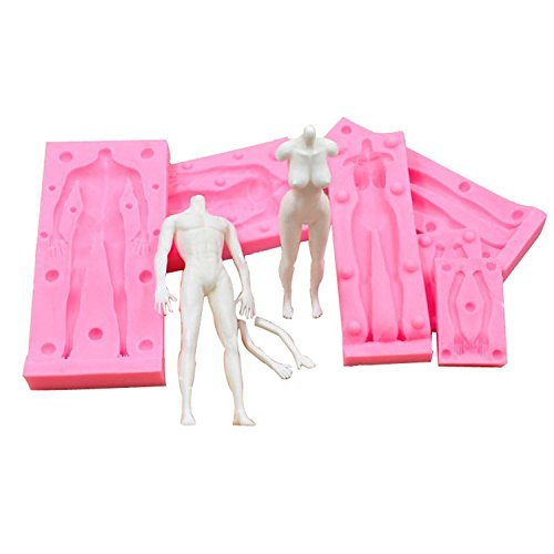 SEPTEMBER Stereoscopic Male Female Modeling Silicone Molds Cake Mould DIY Fondant Baking Tools Fimo Polymer Clay Doll Moulds (MK-1431) (Best Clay For Doll Making)