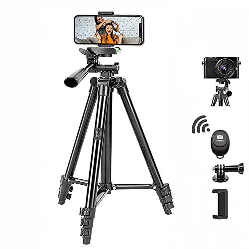 Phone Tripod, BONFOTO CD130 Aluminum Camera Tripod Portable Tabletop Travel Tripod Stand with 1/4