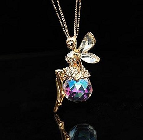 Angel crystal Car Charm for rear view mirror in Exquisite (Crystal Angel Charm)