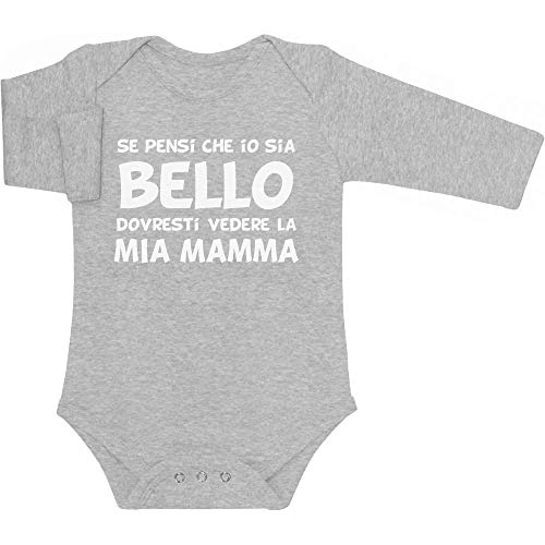 Mamma Neonato Regalo Idea Lunga Grigio Che Per Bello Manica Se Pensi Body Shirtgeil Sia wxvp8qT