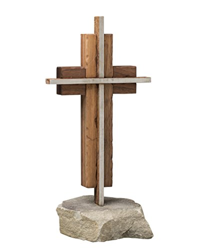 The Unity Cross Rustic Steel and Weathered Solid Black Walnut by The Unity Cross
