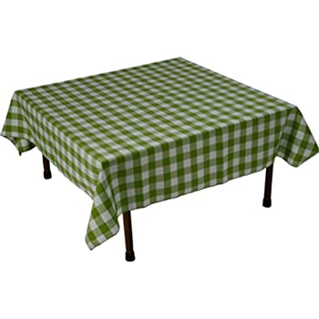 Table In A Bag GW4848 Square Polyester Gingham Tablecloth, 48 Inch By 48