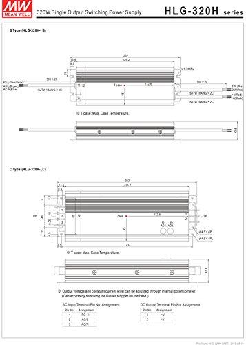 HLG-320H-30B Netzteil Impuls LED 321W 30VDC 10,7A 90-305VAC 127-431VDC MEAN WEL