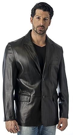 REED MEN'S LEATHER BLAZER JACKET (IMPORTED) at Amazon Men's ...