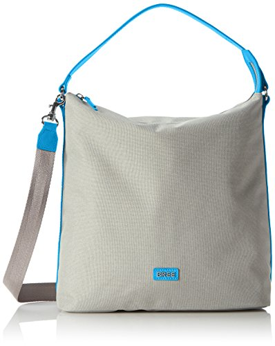 Bree Limoges 5 S17, Borsa a spalla Donna Mehrfarbig (Light Grey/Pacific)