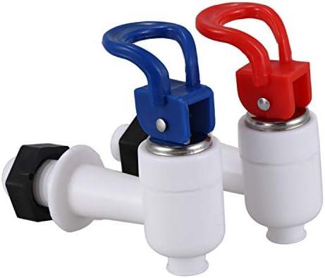 Monland Monland(R)プラスチック ウォーターディスペンサーマシン 蛇口タップ 2個 レッド ブルー ホワイト