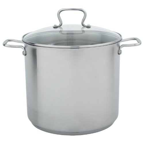 Range Kleen CW7103 Stainless Steel Stock Pot with Tempered G