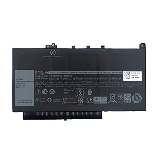 Fully 7CJRC Replacement Laptop Battery Compatible with Dell Laitude 12 E7270 E7470 Series Notebook 21X15 021X15-11.4V 42Wh 3500mAh 3500 Series Notebook Battery