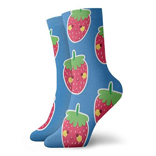 YUANSHAN Socks Strawberry Women & Men Socks Soccer Sock Sport Tube Stockings Length 11.8Inch -