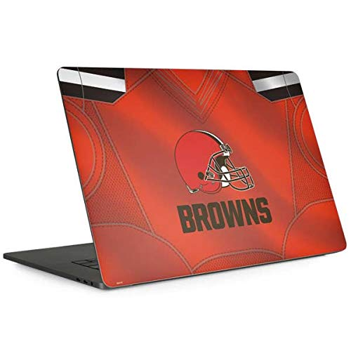 Skinit Cleveland Browns Team Jersey MacBook Pro 15-inch with Touch Bar (2016-18) Skin - Officially Licensed NFL Laptop Decal - Ultra Thin, Lightweight Vinyl Decal Protection