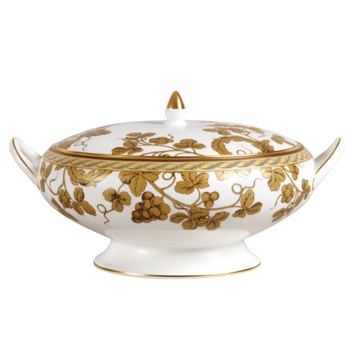 Wedgwood Golden Bird 9-3/4-Inch Covered Vegetable Bowl
